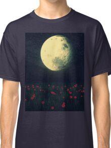 Moon over Grass Field Classic T-Shirt