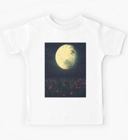 Moon over Grass Field Kids Tee