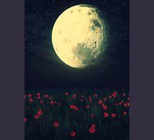Moon over Grass Field Unisex T-Shirt