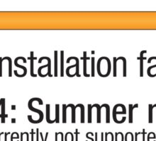 Installing Summer - USA Sticker