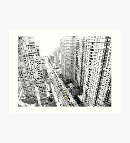 New york city Yellow taxi Art Print