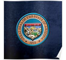 Arizona State Seal over Blue Velvet Poster