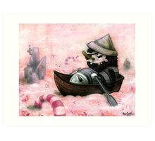 Man Overboard!!! Art Print