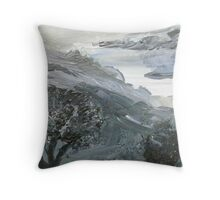 Rumbling Gray Throw Pillow