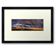 Burra rainbow squared Framed Print