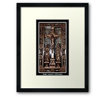 Jesus on The Cross - Confessional Door Framed Print