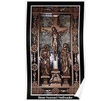 Jesus on The Cross - Confessional Door Poster