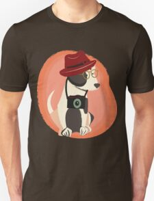 Funny cool Hipster Puppy Dog T-Shirt