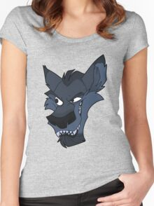Big bad blue wolf Women's Fitted Scoop T-Shirt