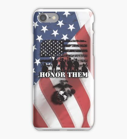 Honor Them-Marines iPhone Case/Skin
