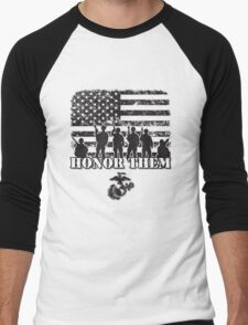 Honor Them-Marines Men's Baseball ¾ T-Shirt