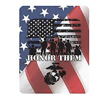 Honor Them-Marines Photographic Print