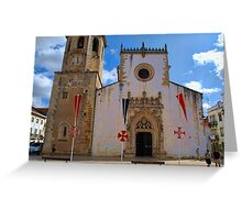 Manueline style Church in Tomar Greeting Card
