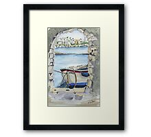 Beautiful harbour Framed Print