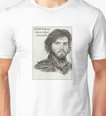 Athos Illustration ~ A Little Battered... Unisex T-Shirt