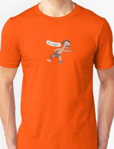 Caveman running scared T-Shirt