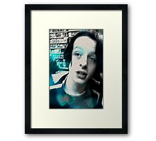 Kiddo with hint of young Brando Framed Print
