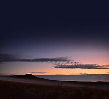 Evening mist rising on The Cronk - photography by Paul Davenport