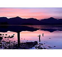Derwentwater winter sunset - The Lake District Photographic Print