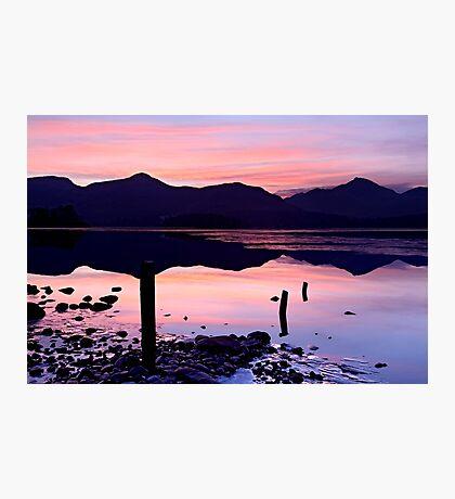 Derwentwater winter sunset - The Lake District Photographic Print