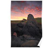 Kings Rocks Sunset Poster