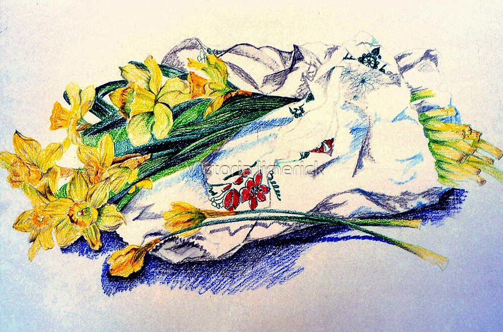 Daffodils & Paper - illustration by Victoria limerick