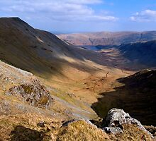 Riggindale from High Street - The Lake District by Dave Lawrance