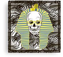 Skull Pharaoh, Day of The Dead, Vintage Vector illustration Canvas Print