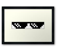 Deal With It Glasses Framed Print