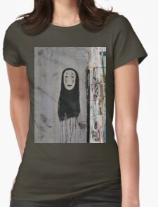 The Ghost - Street art Womens Fitted T-Shirt