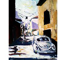 Beetle bug car and summer day Photographic Print