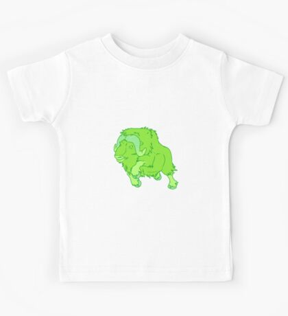 Leaping Lime Musk-ox Kids Tee