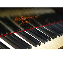 Old Piano Keys Photographic Print