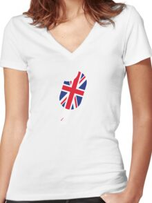 SoFresh Design - God Save The Queen Women's Fitted V-Neck T-Shirt