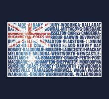 Australia place names flag Kids Tee