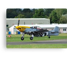 US Mustang fighter Canvas Print