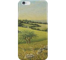 Early Evening Sun, Epsom Downs, Surrey iPhone Case/Skin