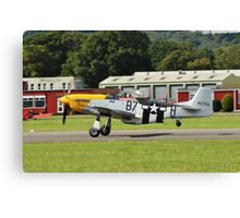 Mustang P51-D fighter Canvas Print