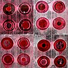 "Red Collagraph Print by Belinda ""BillyLee"" NYE (Printmaker)"