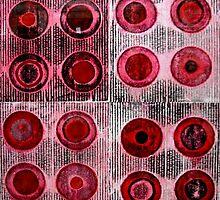 "Red Collagraph Print by Belinda ""BillyLee"" NYE (Printmaker)"