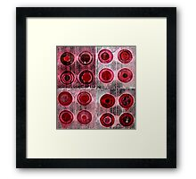 Red Collagraph Print Framed Print