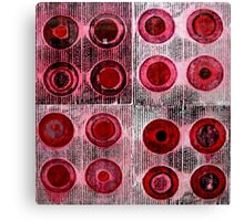 Red Collagraph Print Canvas Print