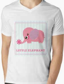 Cute girl elephant illustration for apparel or other uses,in vector. Baby showers, parties for baby girls. Mens V-Neck T-Shirt