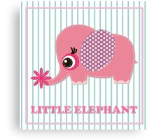 Cute girl elephant illustration for apparel or other uses,in vector. Baby showers, parties for baby girls. Canvas Print