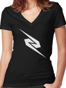 Zeddabmx logo Women's Fitted V-Neck T-Shirt