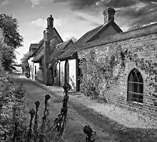 Footpath through Kersey by Geoff Carpenter