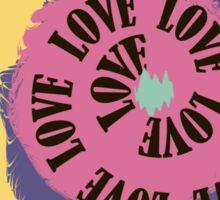 Love. Typography, t-shirt graphics, vectors Sticker