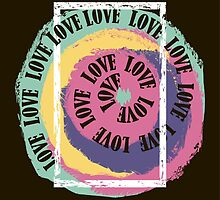 Love. Typography, t-shirt graphics, vectors by IrinaShi