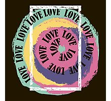 Love. Typography, t-shirt graphics, vectors Photographic Print