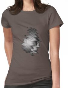 Abstract Black & White Womens Fitted T-Shirt